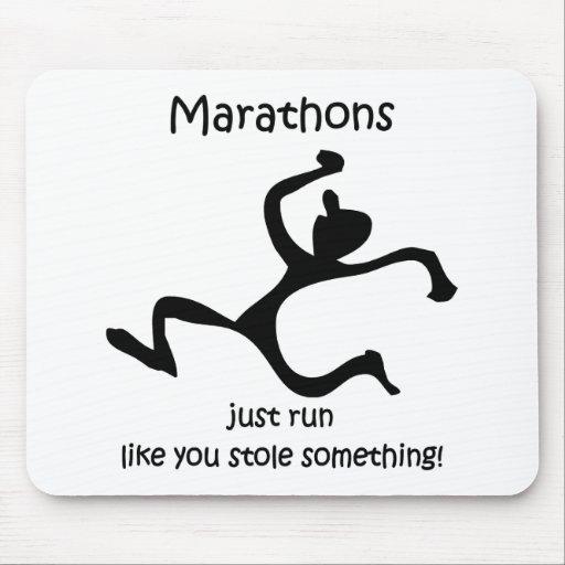Funny marathon mouse pad