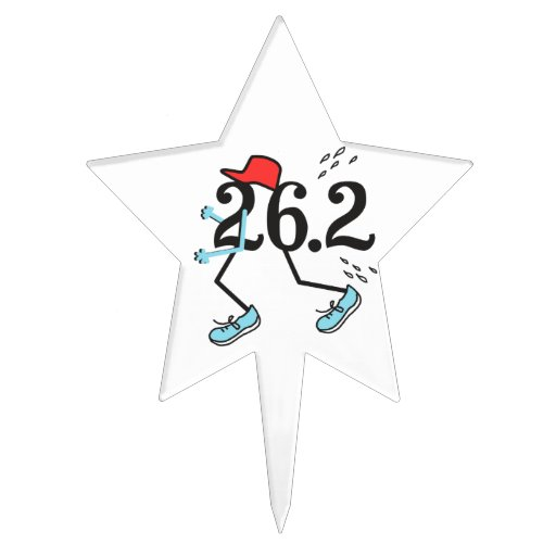Funny Marathon Runner 26.2 - Gifts for Runners Cake Toppers