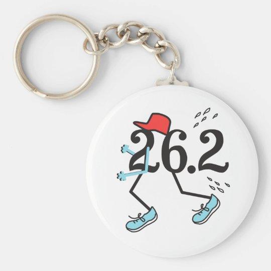 Funny Marathon Runner 26.2 - Gifts for Runners Keychain