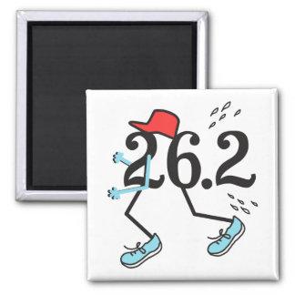 Funny Marathon Runner 26.2 - Gifts for Runners Magnet