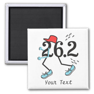 Funny Marathon Runner 26.2 - Gifts for Runners 2 Inch Square Magnet