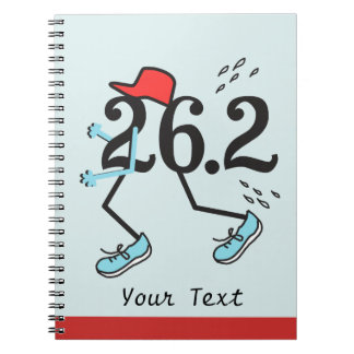 Funny Marathon Runner 26.2 - Gifts for Runners Spiral Notebook