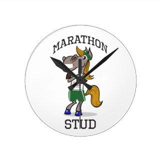 Funny Marathon Stud design Round Clock