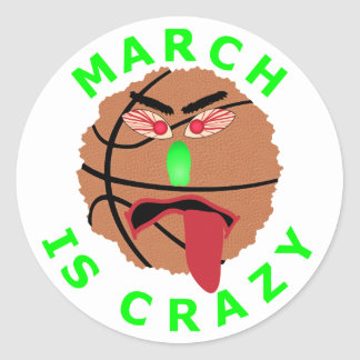 Funny March Basketball Tournament T-Shirts & Gifts Classic Round Sticker