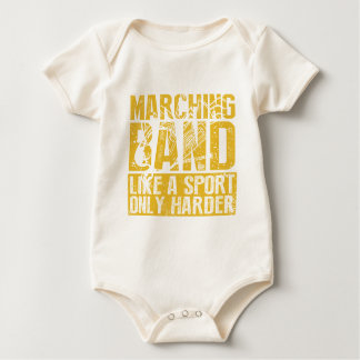 Funny Marching Band Like a Sport Only Harder Music Baby Bodysuit
