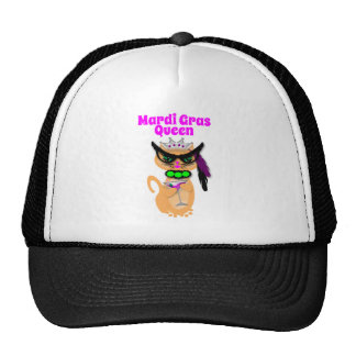 Funny Mardi Gras Kitty Cat Queen Trucker Hat