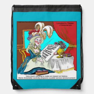 Funny Marie Antoinette Drawstring Backpack