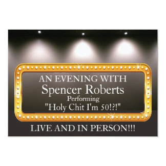 Funny Marquee Birthday Invitation