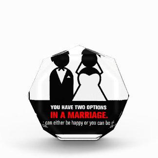 Funny Marriage Acrylic Award