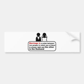 Funny Marriage Bumper Sticker