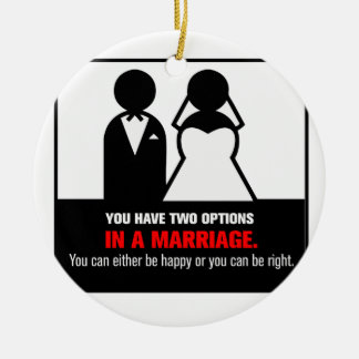 Funny Marriage Ceramic Ornament