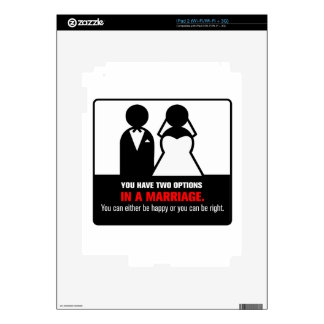 Funny Marriage Decals For iPad 2