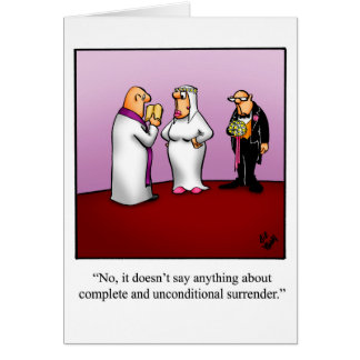 Funny Marriage Humor Greeting Card