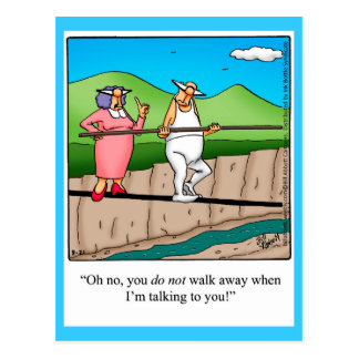 Funny Marriage Humor Postcard