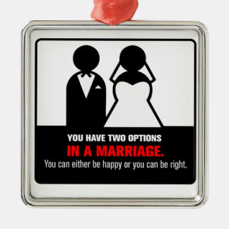 Funny Marriage Metal Ornament