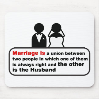 Funny Marriage Mouse Pad