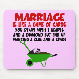 Funny marriage mousemats