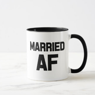 Funny Married AF coffee mug