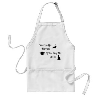 Funny Married Cat Apron