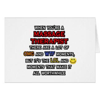 Funny Massage Therapist ... OMG WTF LOL Card