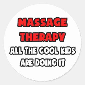 Funny Massage Therapist Shirts and Gifts Classic Round Sticker