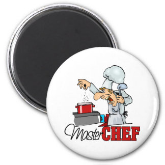 Funny Master Chef Gift 2 Inch Round Magnet