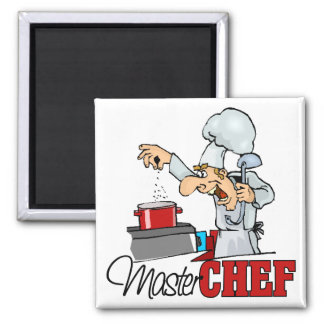 Funny Master Chef Gift 2 Inch Square Magnet