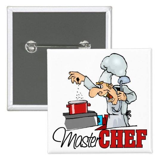 Funny Master Chef Gift Pinback Button