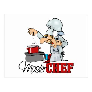Funny Master Chef Gift Post Card