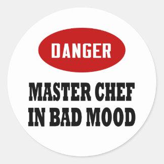 Funny Master Chef Round Sticker