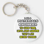 Funny Materials Engineer T-Shirts and Gifts Basic Round Button Keychain