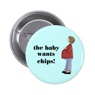 Funny Maternity Design Pinback Buttons