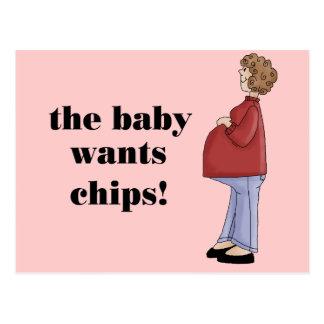 Funny Maternity Design Postcard
