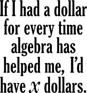 Algebra Gifts on Zazzle