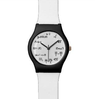 Funny Math Equation Geek Wrist Watch
