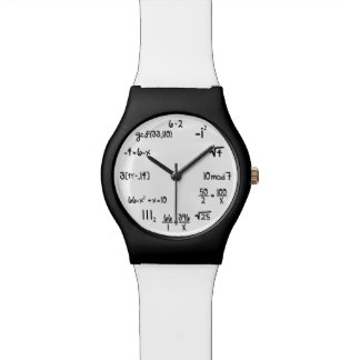 Funny Math Equation Geek Wristwatches