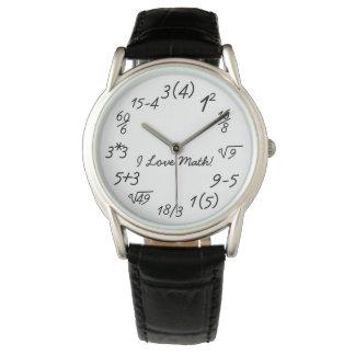 Funny Math Geek Algebra Equations Wrist Watches