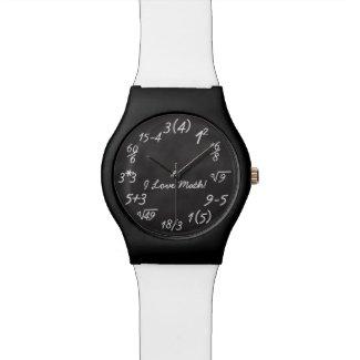 Funny Math Geek Chalkboard Equation Watches