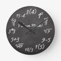 Funny Math Geek Round Clock