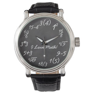 Funny Math Geek Wrist Watches