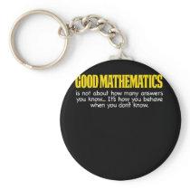 Funny Math Gifts Math Teacher Gift Good Keychain