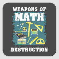 Funny Math Gifts Square Sticker