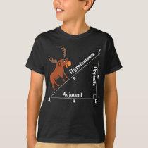 Funny Math Hypotemoose Geometry Moose Joke Pun T-Shirt