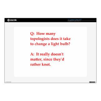 """funny math joke 15"""" laptop skins"""