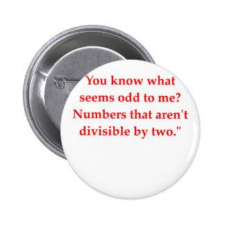 funny math joke 2 inch round button