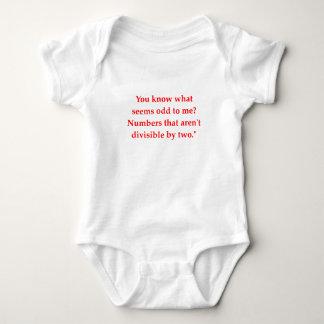 funny math joke baby bodysuit