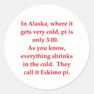 funny math joke classic round sticker