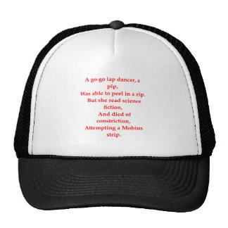 funny math joke mesh hats