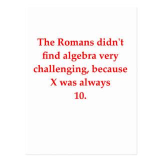 funny math joke post card