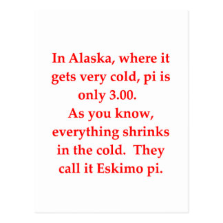 funny math joke postcard